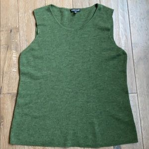 Eileen Fisher Merino Tank Avocado Green L